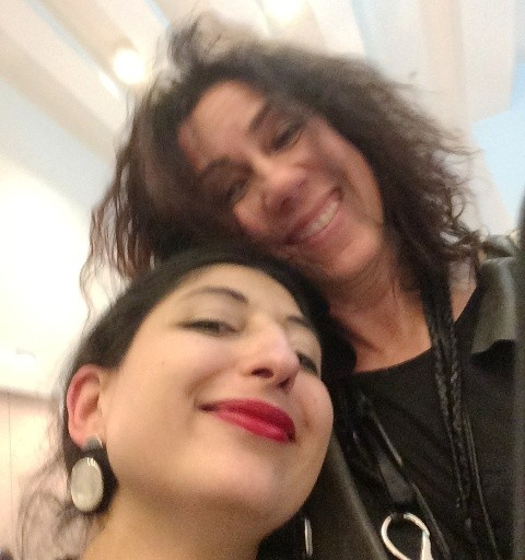 The jewelry designer Milena Altini and me, photo by N
