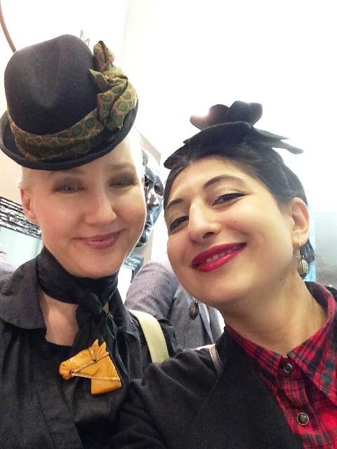 Naomi Goodsir and me, photo by N