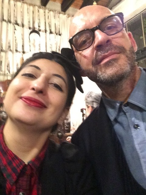 Me and Antonio Marras, photo by N
