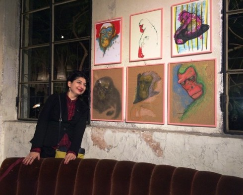 Me and the works by Filippo Timi, photo by Sveti Schmidt