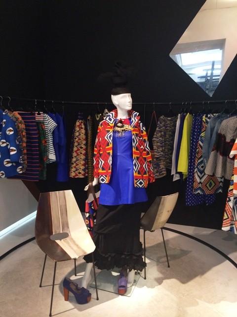 Jacket Stella Jean - featuring in Penelope -, dress Stella Jean, skirt Comme des Garçons, hat Penelope archive, photo by N