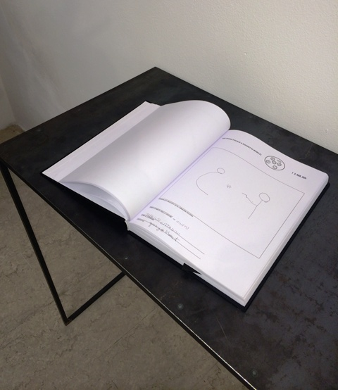 The register to document every experience arising by the exhibition path through images and words that will be turned in artworks by Silvia Hell, photo by N