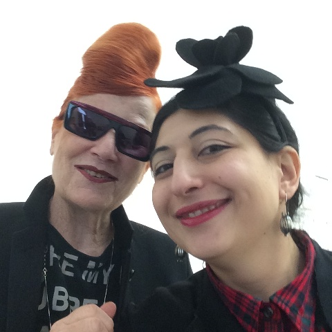 Roberta Valentini and me, photo by Alessandro Boccingher