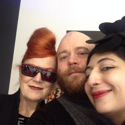 The one and only Roberta Valentini, Alessandro Boccingher and me, photo by N