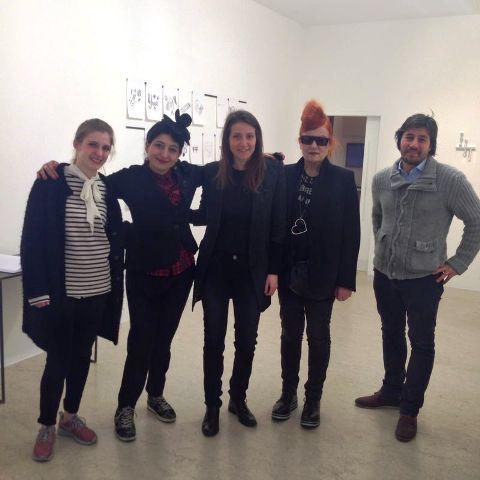 The curator of exhibitio, me, Silvia Hell, the one and only Roberta Valentini and Dario Bonetta, photo by Alessandro Boccingher