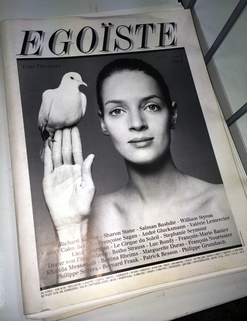 A smashing yesterday magazine ft. Uma Thurman on its cover, photo by N