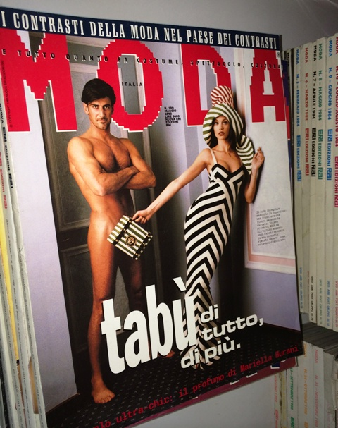 One of the first fashion magazines I read, photo by N