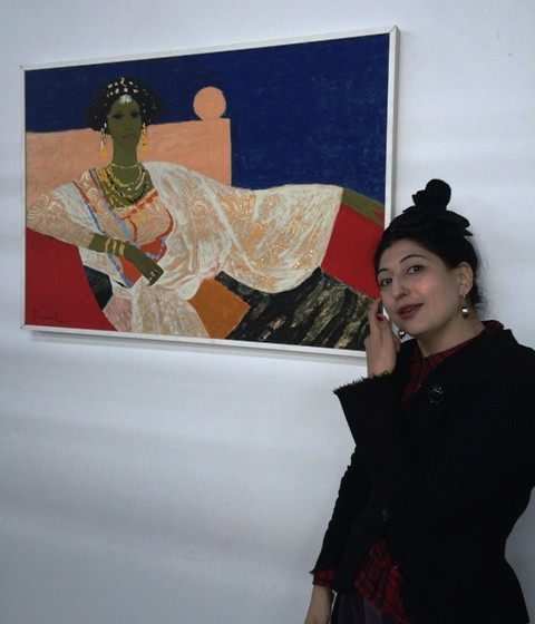 Me and the artwork by Salvatore Fiume, photo by Jessica Carlini