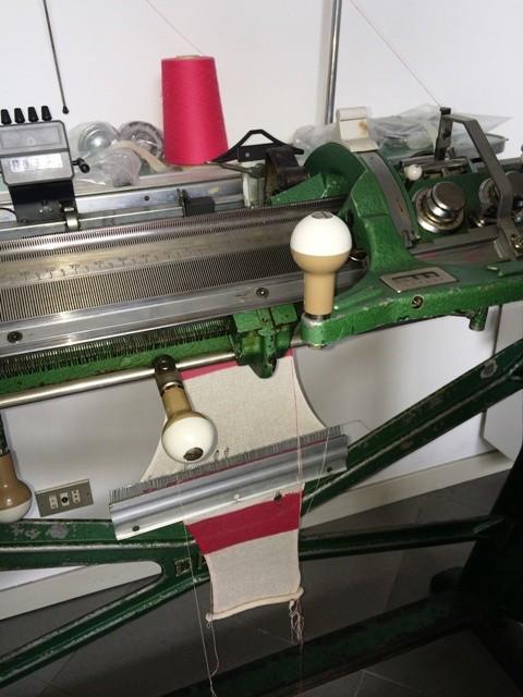 Deanna's knitwear machine, photo by N