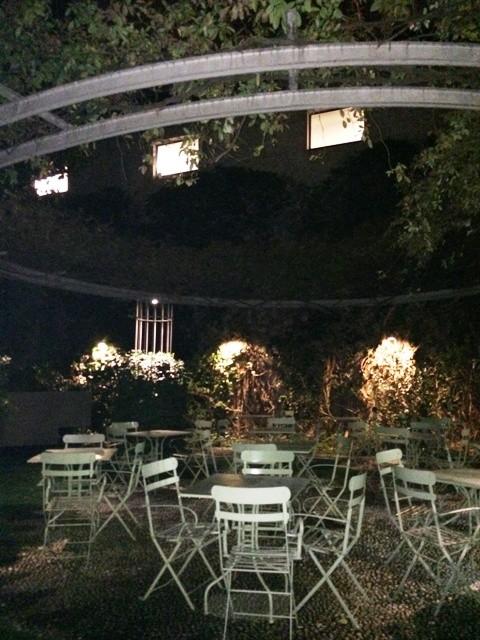 The garden of the Arti e mestieri restaurant, photo by N
