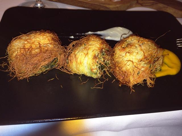 The version of Erbazzone by Arti e Mestieri restaurant, photo by N