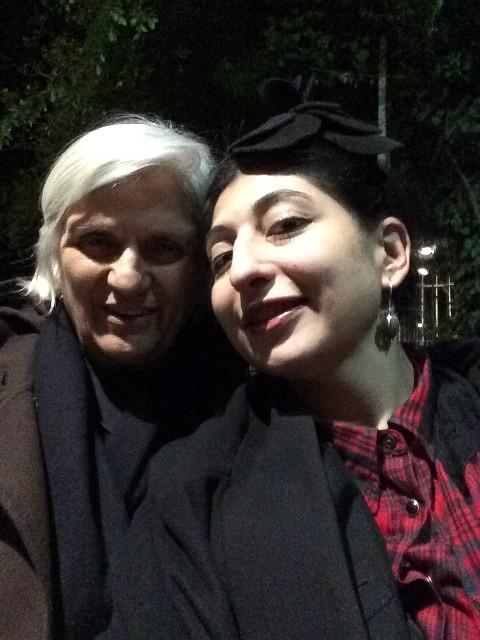 Laura Lusuardi and me, photo by Deanna Ferretti Veroni