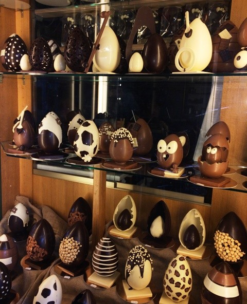The Eastern eggs from the Reggio Emilia Casa del Miele, photo by N