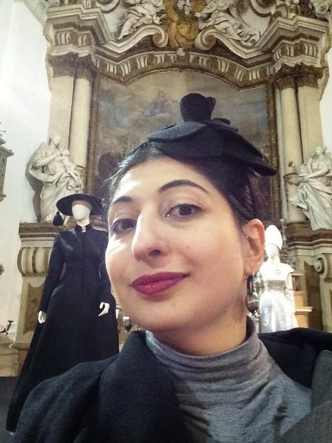 Me at the San Carlo Church, clothes by Gattinoni, photo by N