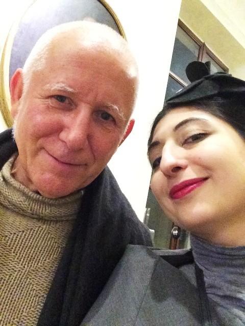 Pietro Saporito and me, photo by N
