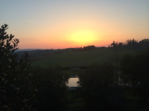 Sunset at La Lodola, photo by N