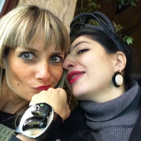 Anna Porcu, the jewels she made and me, photo by N