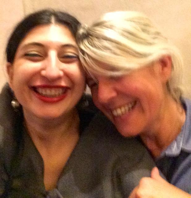 Smiling: Clara Tosi Pamphili and me, photo by Davide Dormino