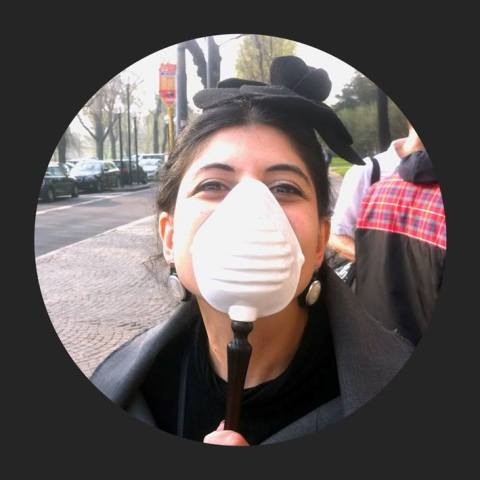 Me, myself and I along with the Bogue mask, photo by Antonio Gardoni