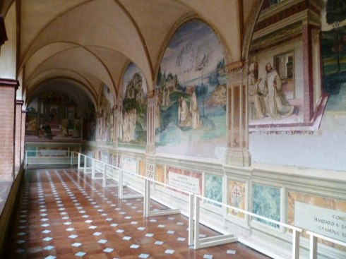 "The fresco ""Stories of San  Benedict"" by Luca Signorelli and Antonio Bazzi aka il Sodoma"