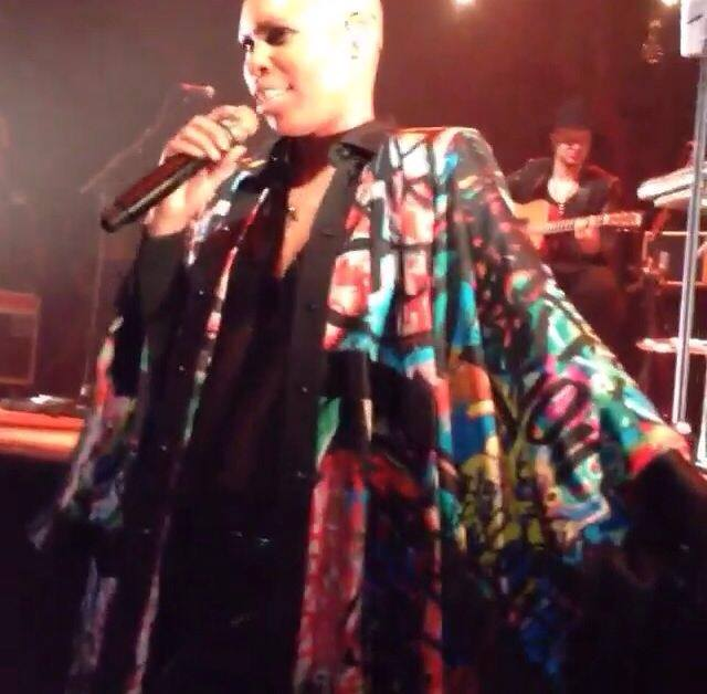 Skin performing with Skunk Anansie, photo courtesy of Studio Re