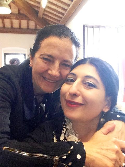 Antonella Antonelli and me, photo by N