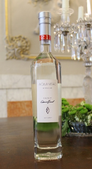 Aqua Vitae (spirit), featuring in AVF, a selection of wines curated by Anna Venturini Fendi