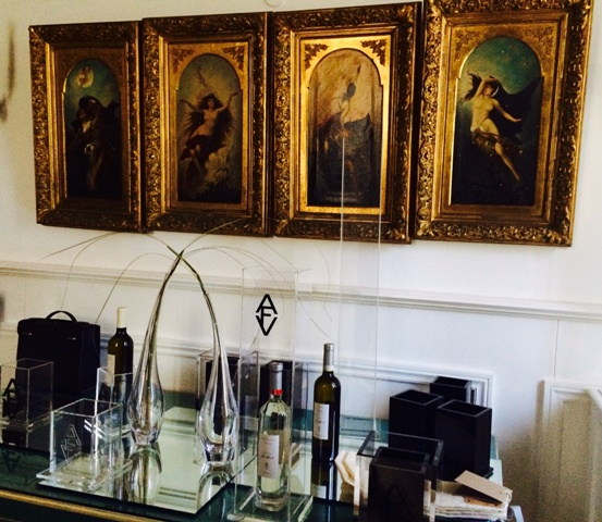 AVF, the selection of wines curated by Anna Venturini Fendi along with the other creations she made at the Rome Villa Laetitia
