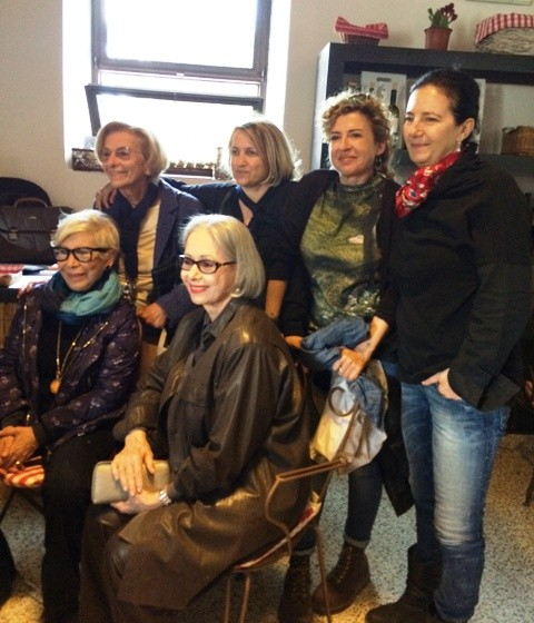 Anna Venturini Fendi, Paola Fendi, Emma Bonino, Silvia Venturini Fendi, Ilaria Venturini Fendi, Antonella Antonelli, photo by N