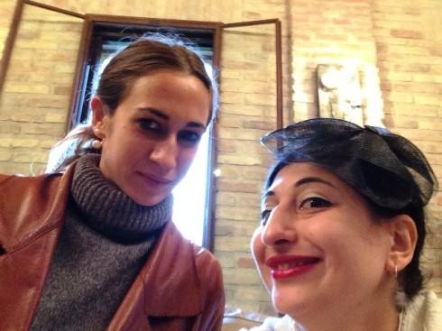 Delfina Delettrez and me,  photo by N
