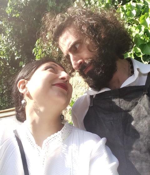 An alchemic moment featuring me and Meo Fusciuni aka the cousin of Fabio Quaranta