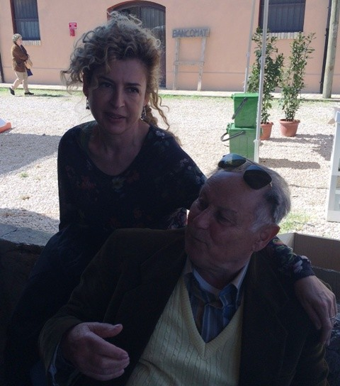 Ilaria Venturini Fendi along with a man who was born and lived in the area of I Casali Del Pino, photo by N