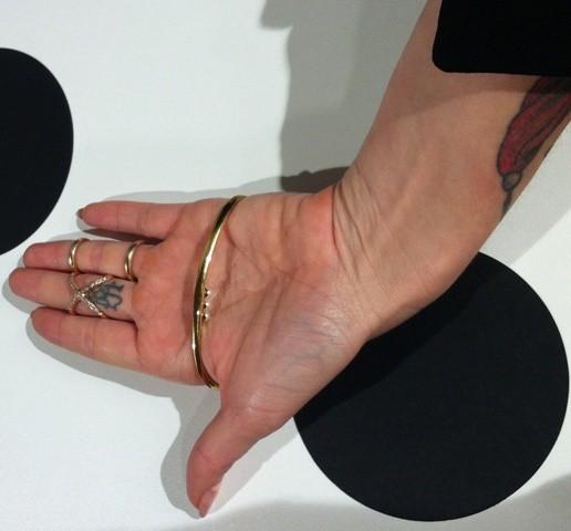 Jules Kim wearing the jewerly she made, photo by Elisabetta Facco