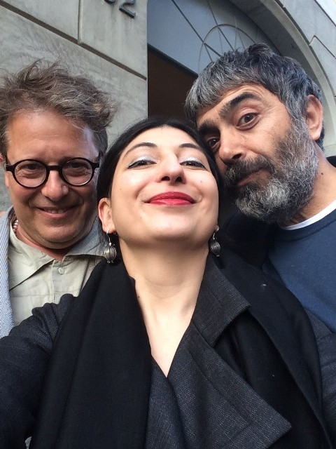 Stephan Hamel, me and Mustafa Sabbagh, photo by N