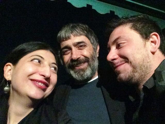 Me, Mustafa Sabbagh and Matteo Sanna, photo by N