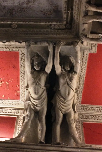 Details from the ceiling of the alcove, photo by N