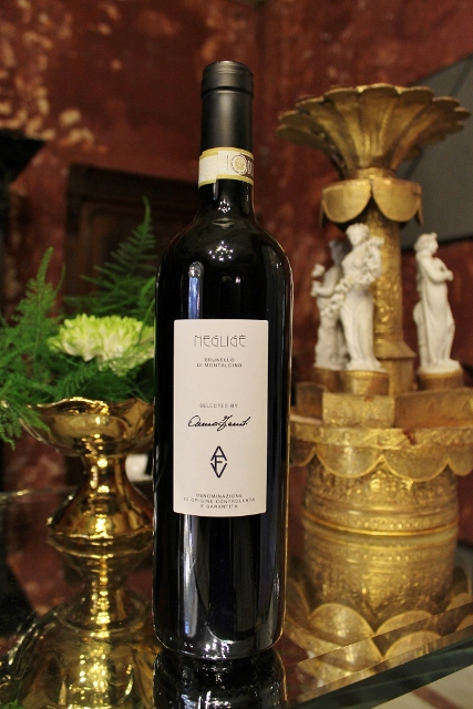 Negligé( Brunello di Montalcino) featuring in AVF, a selection of wines curated by Anna Venturini Fendi