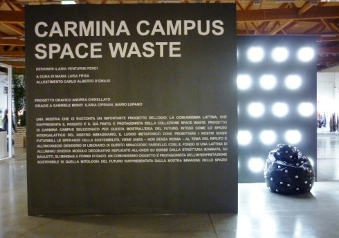 The installation featuring Carmina Campus, photo by Paolo Franzo