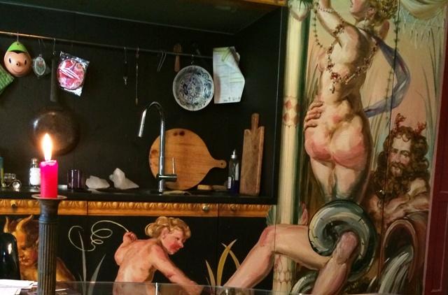 The decorative works by Raja Schwahn-Reichmann at the Stephan Hamel's house