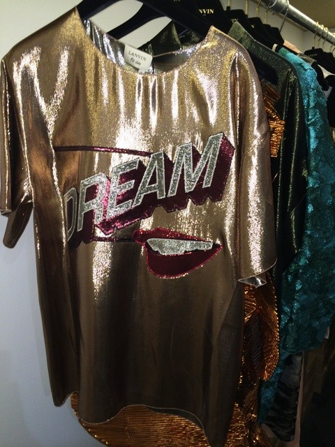 A categorical imperative, Dream, impressed on the silk shirt by Lanvin at Penelope, photo by N