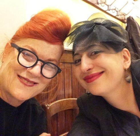 The one and only Roberta Valentini and me, photo by N