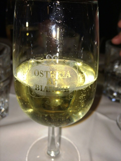 Wine at Osteria Bianchi, photo by N