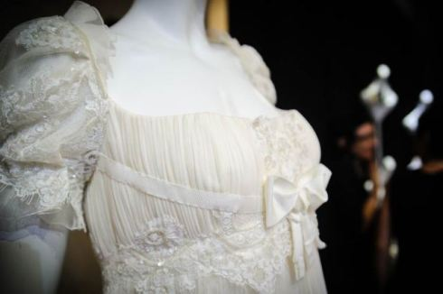 A dress by Christian Lacroix at the bride atelier La Maison Blanche, photo by Francesca Lattanzi & Luca Sorrentino