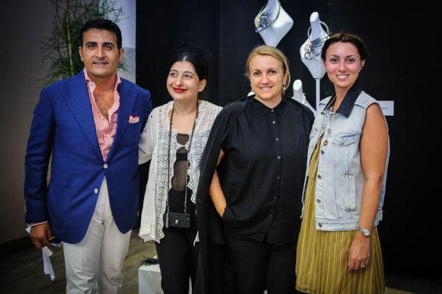 Davide Racite from the atelier La Maison Blance, my, myself and Silvia Venturini Fendi along with Davide Racite's wife, photo by Francesca Lattanzi & Luca Sorrentino