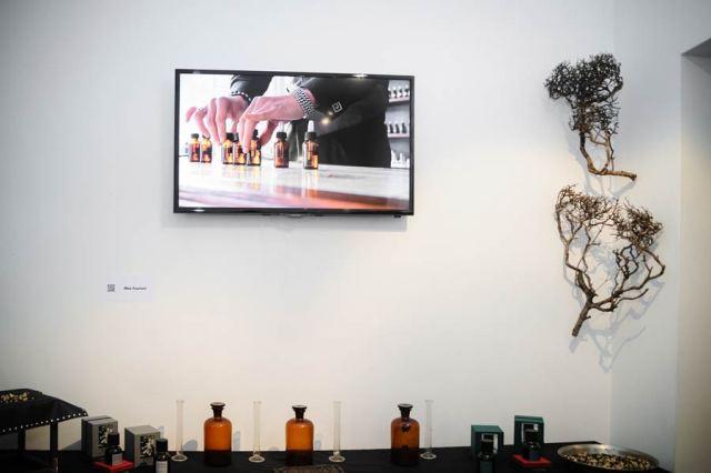 The olfactive installation by Meo Fusciuni at the Menexa factory, photo by Francesca Lattanzi & Luca Sorrentino