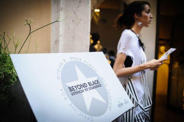 A girl wearing the dress and jewelry by Myriam B., photo by Francesca Lattanzi & Luca Sorrentino