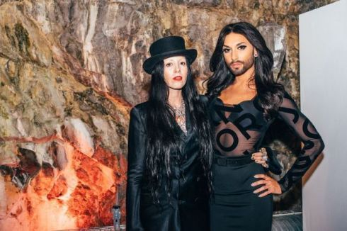 Bea Åkerlund and Conchita Wurst  wearing Björn Borg