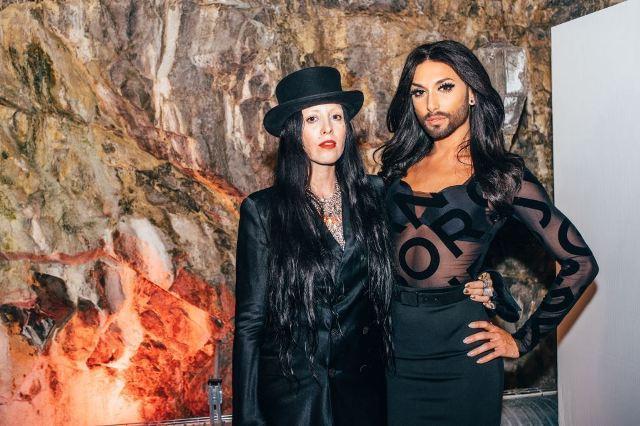 Bea Åkerlund and Conchita Wurst  wearing Björn Borg