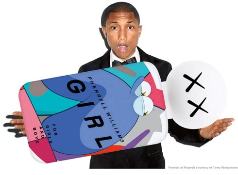 Pharrell Williams, photo by Terry Richardson, courtesy of  Dover Street Market