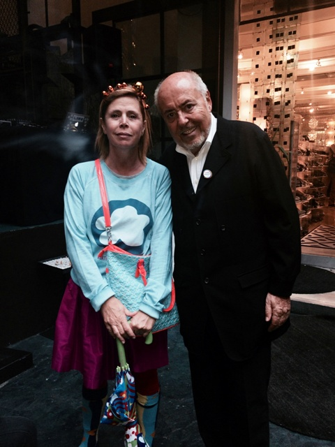 Agatha Ruiz de la Prada and Elio Fiorucci, photo by N